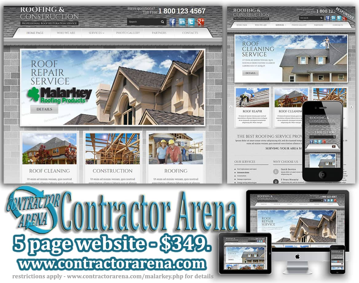 Roofing, roofers website design contractor