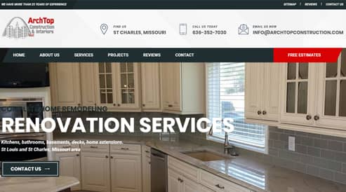 remodel construction company website in missouri