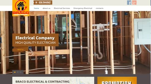 websites design for electrician seo