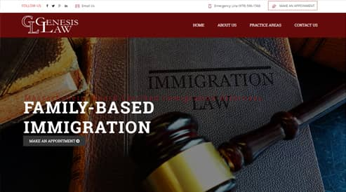 law firm attorney website design boston, ma