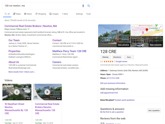 creat Google my business listing boston, ma