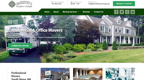 moving and storage company websites boston, ma