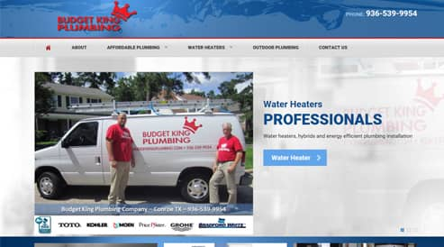 websites for plumber, plumbing company