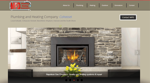 Websites for plumbing heating company