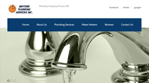 plumbing website design st louis fl