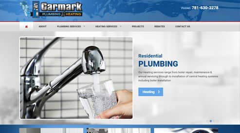 plumbers website design seo marshfield-ma