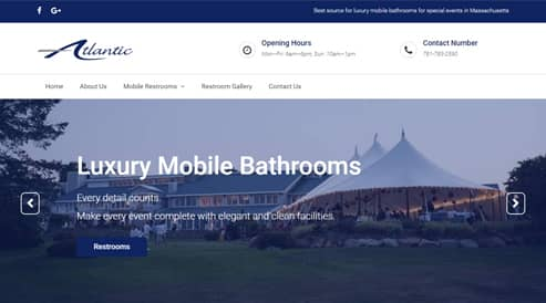 portable bathroom company websites boston, ma