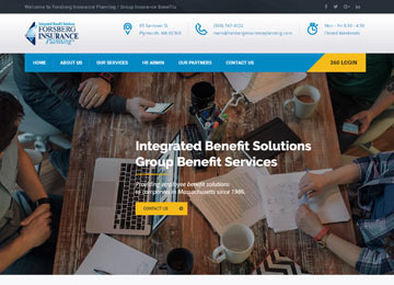 insurance financial planner website design