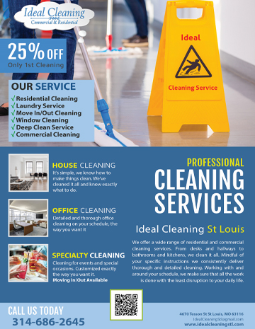 business cards flyers cleaning company