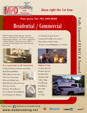 flyers business cards plumbing heating company