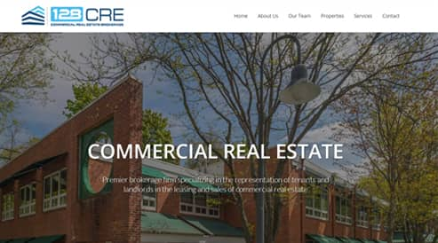 commercial real estate company website design boston, ma