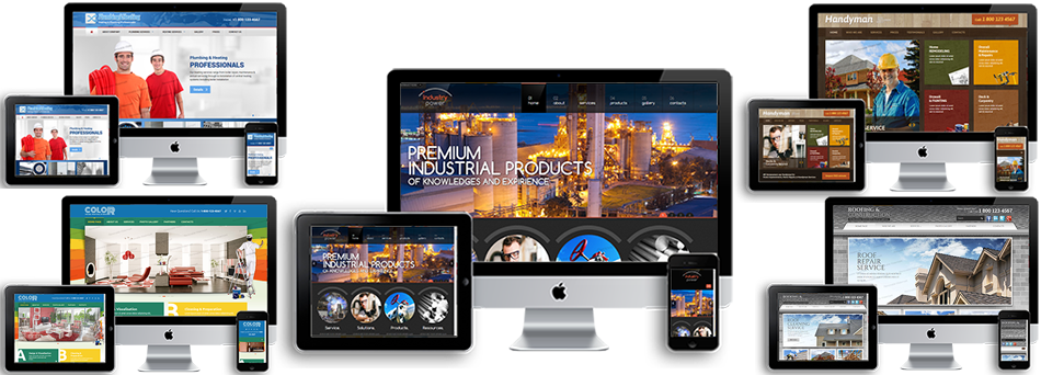 responsive website designed builders electrician plumbers