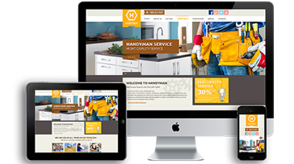 responsive construction website design electricians and builders