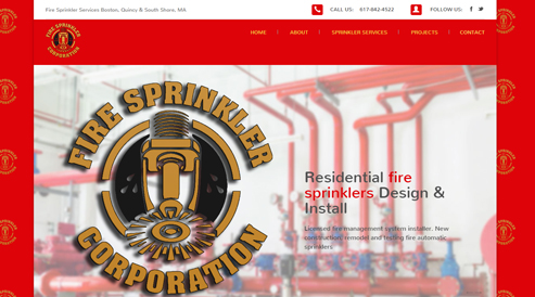 websites for fire sprinkler companies boston, ma